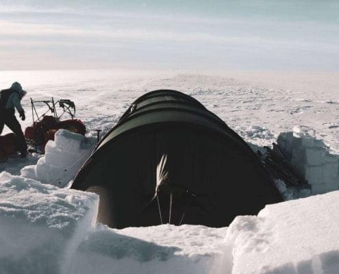 Tentenkamp op de Groenlandse IJskap