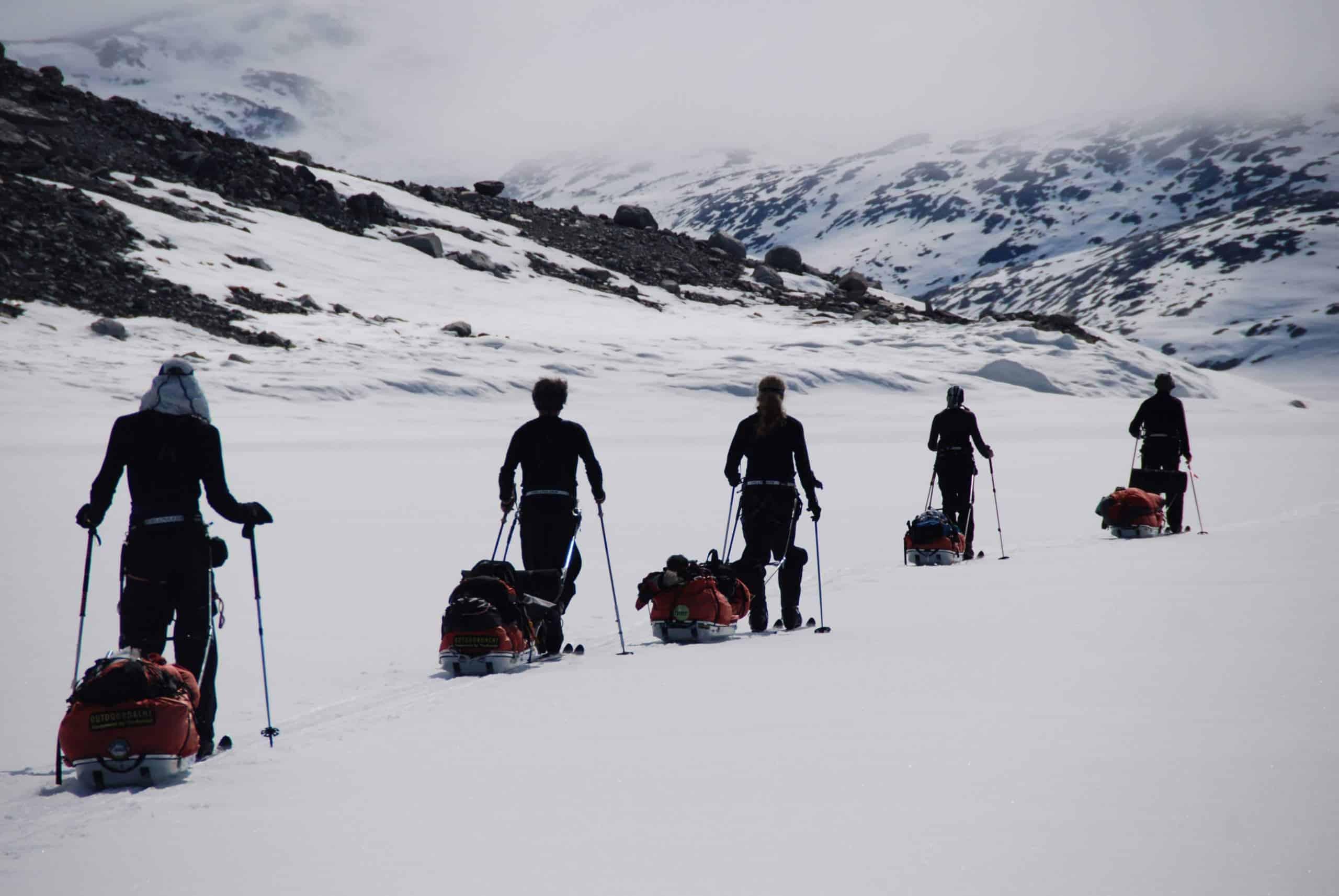 Aankomst in isertoq in Greenland