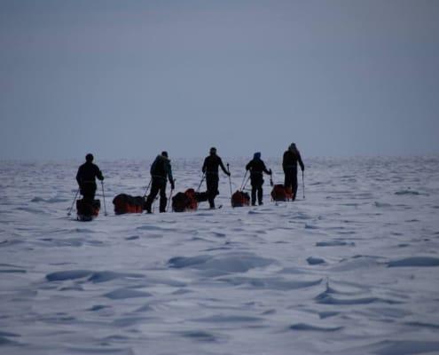 Groep tijdens een expeditie op Groenland