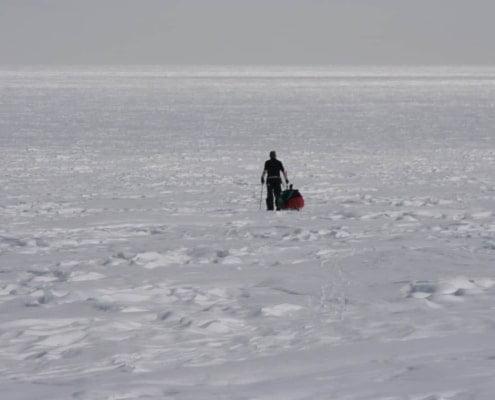 Henk-Jan Geel loopt voorop op Groenland