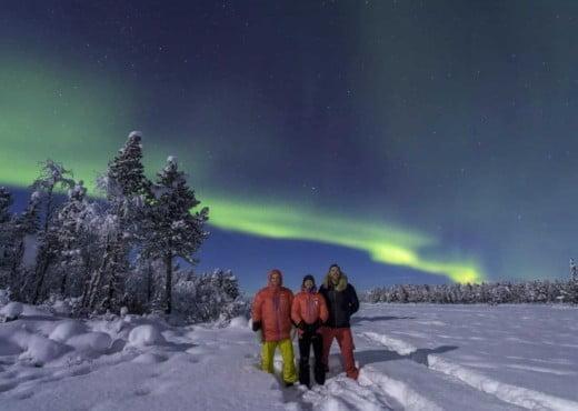 Het Noorderlicht gezien in Noord Zweden