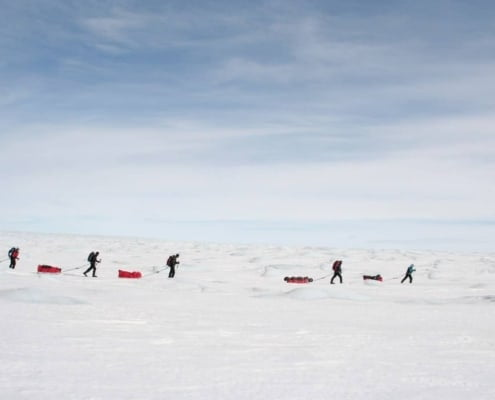 Expeditie tijdens de oversteek van Groenland