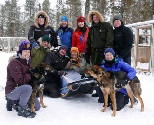 Het team tijdens de Arctic Grand Slam in Zweden