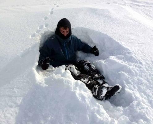 Toilet in de sneeuw
