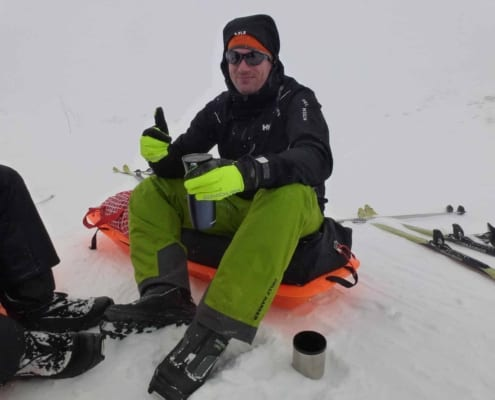 Remco Geerdink in de pauze in Noorwegen