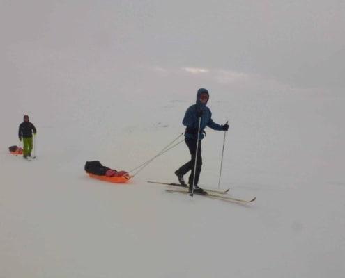 toerskien met slee in Noorwegen