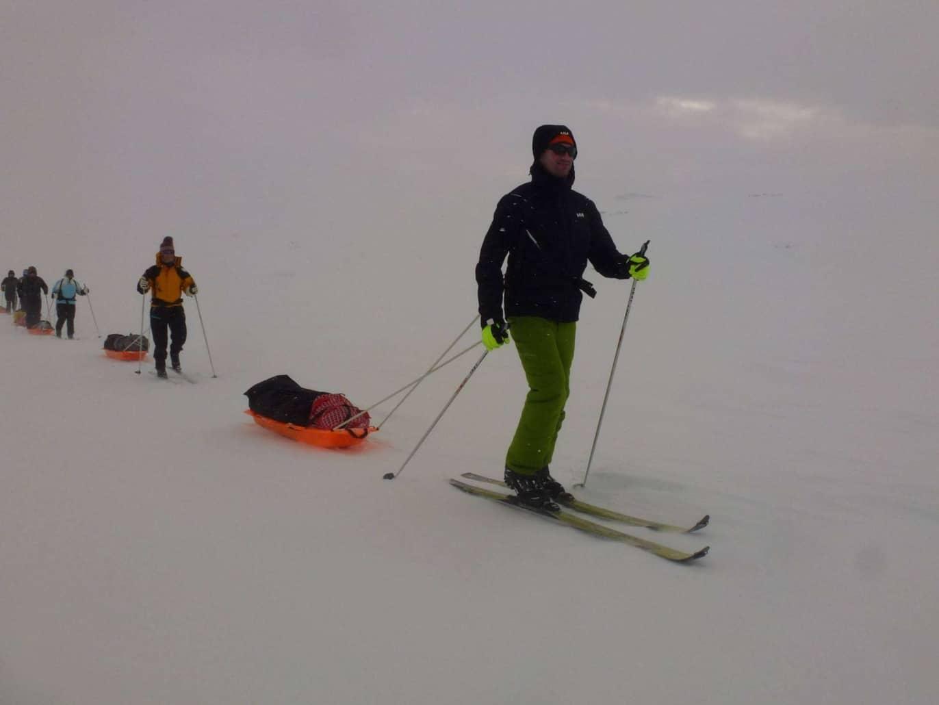 Remco Geerdink in Noorwegen op de ski's