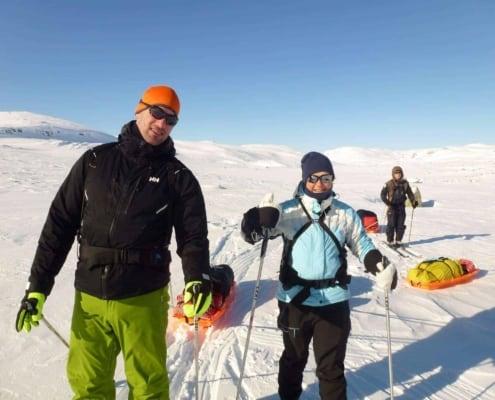 Tanja Gloudemans-van Dijk en Remco Geerdink in Noorwegen