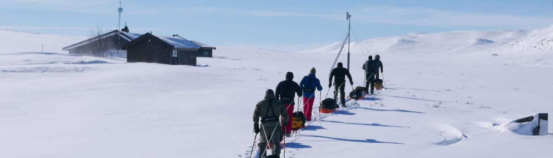 Hutten tijdens de Heroes of telemark Expeditie