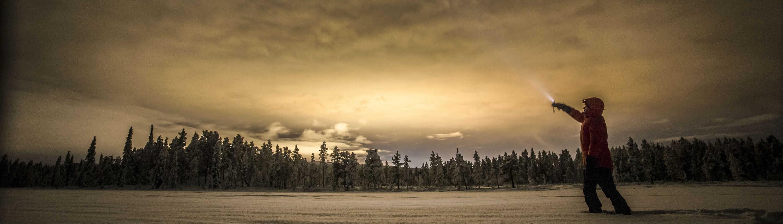 Zonsondergang in Noord Zweden