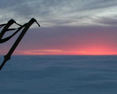 Harde wind op Groenland