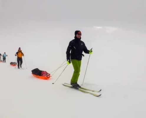 Remco Geerdink op ski's