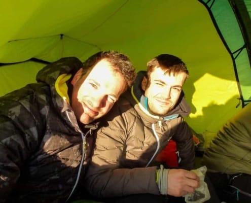Remco Geerding en Luuk van Houdt in Noorwegen