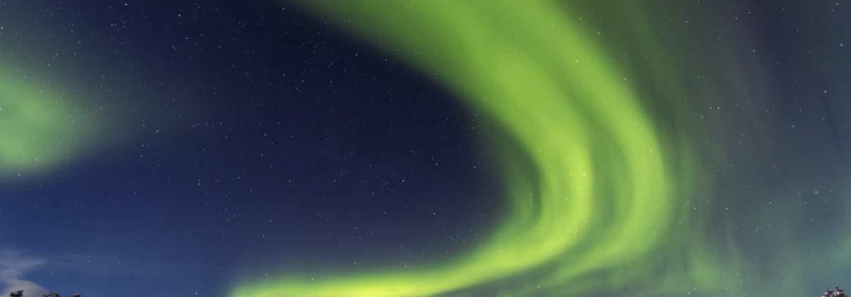 Noorderlicht in Noord Zweden