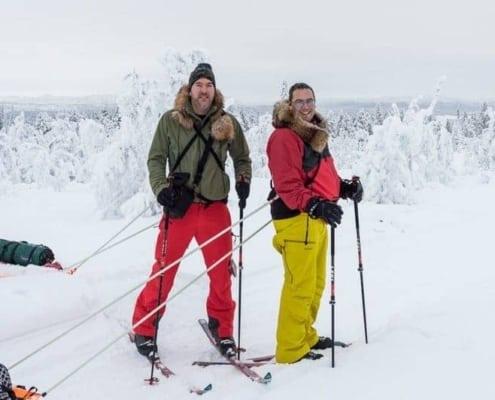 Sander Goldbach en Maarten in Noord Zweden