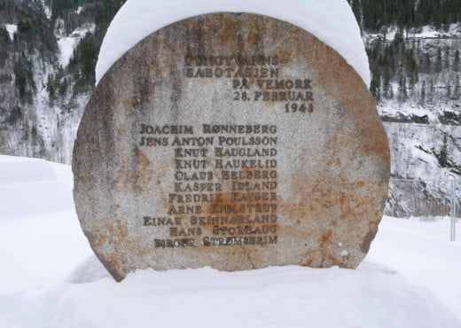 Gedenkmonument in Vemork van de Heroes of Telemark