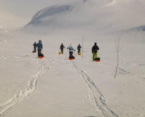 Winterse tocht in Noorwegen