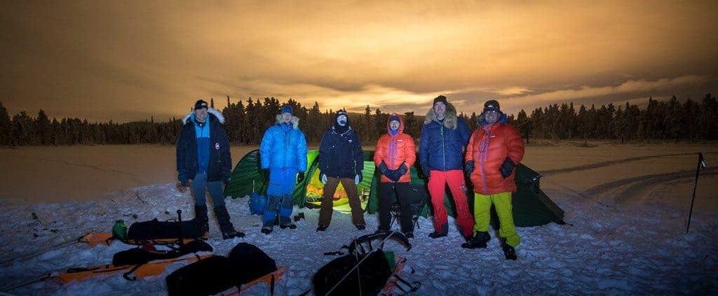 Het expeditie team 2019 in Zweeds Lapland