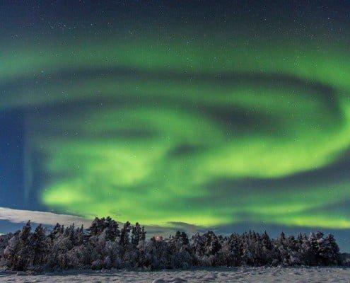 Noorderlicht nabij Kiruna