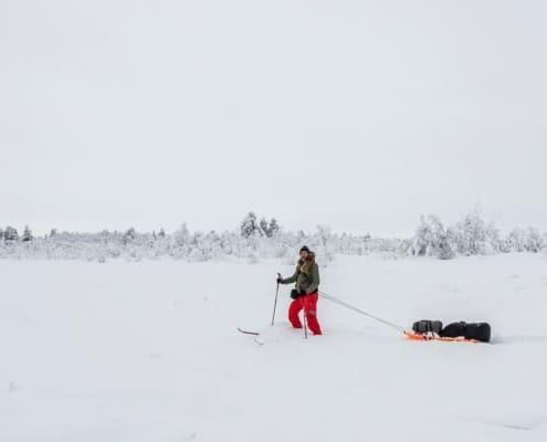 Sander Goldbach in de sneeuw