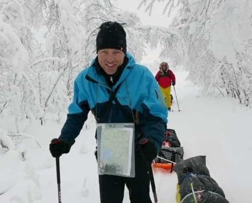 Raymond op expeditie in Zweeds Lapland