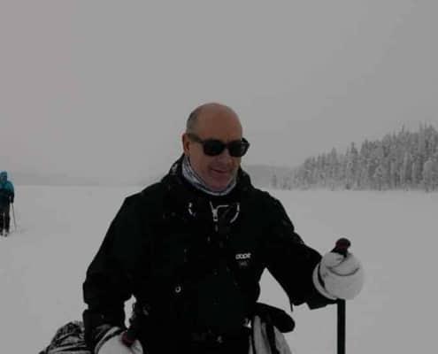 Barry Batist tijdens de expeditie in Noord Zweden