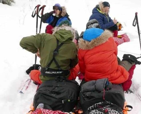Pauze tijdens de expeditie