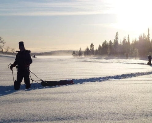 Winterse omstandigheden in Finland