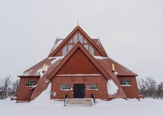 De kerk van Kiruna in Zweden