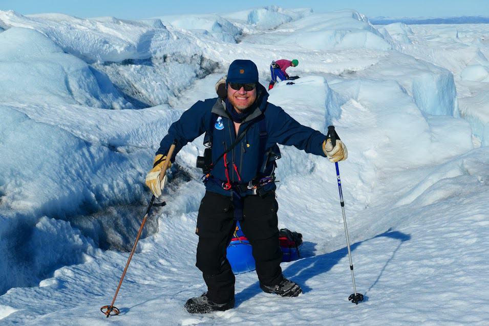 Henk-Jan op de ijskap van Groenland