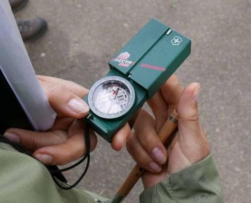 Kompaskoers aflezen van een recta dp2 kompas