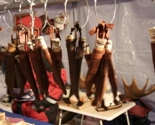 messen op de Sami jaarmarkt in Jokkmokk