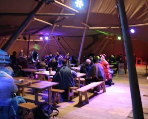 restaurant op de Sami jaarmarkt in Jokkmokk