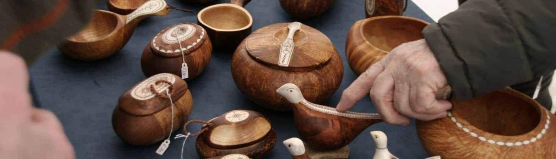 Sami handwerk op de Sami jaarmarkt in Jokkmokk