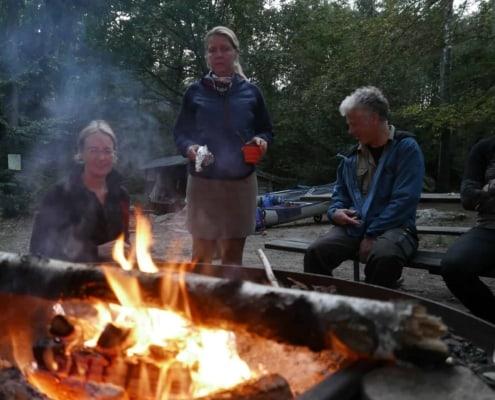 Kampvuur in Zuid Zweden Olofstrom