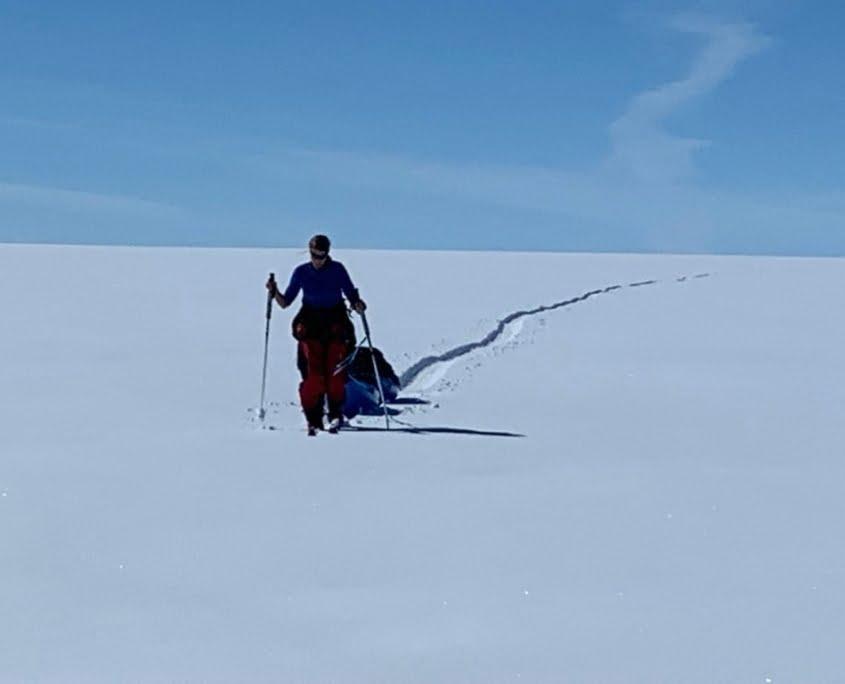 Cordula tijdens de oversteek van Groenland